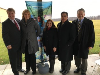 County Executive Rich Fitzgerald, DCNR Secretary Cindy Adams Dunn, Erin Molchany, director of southwestern PA region for Governor Tom Wolf, Sentor Jay Costa, URA Executive Director Robert Rubinstein