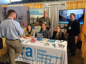 URA staff at the Brownfields Conference Booth