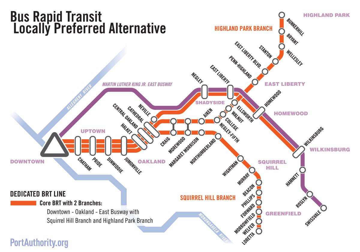 bus rapid transit (brt) downtown to oakland | ura