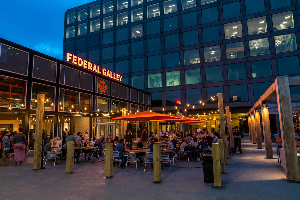Outdoor patio and Beer Garden at Federal Galley
